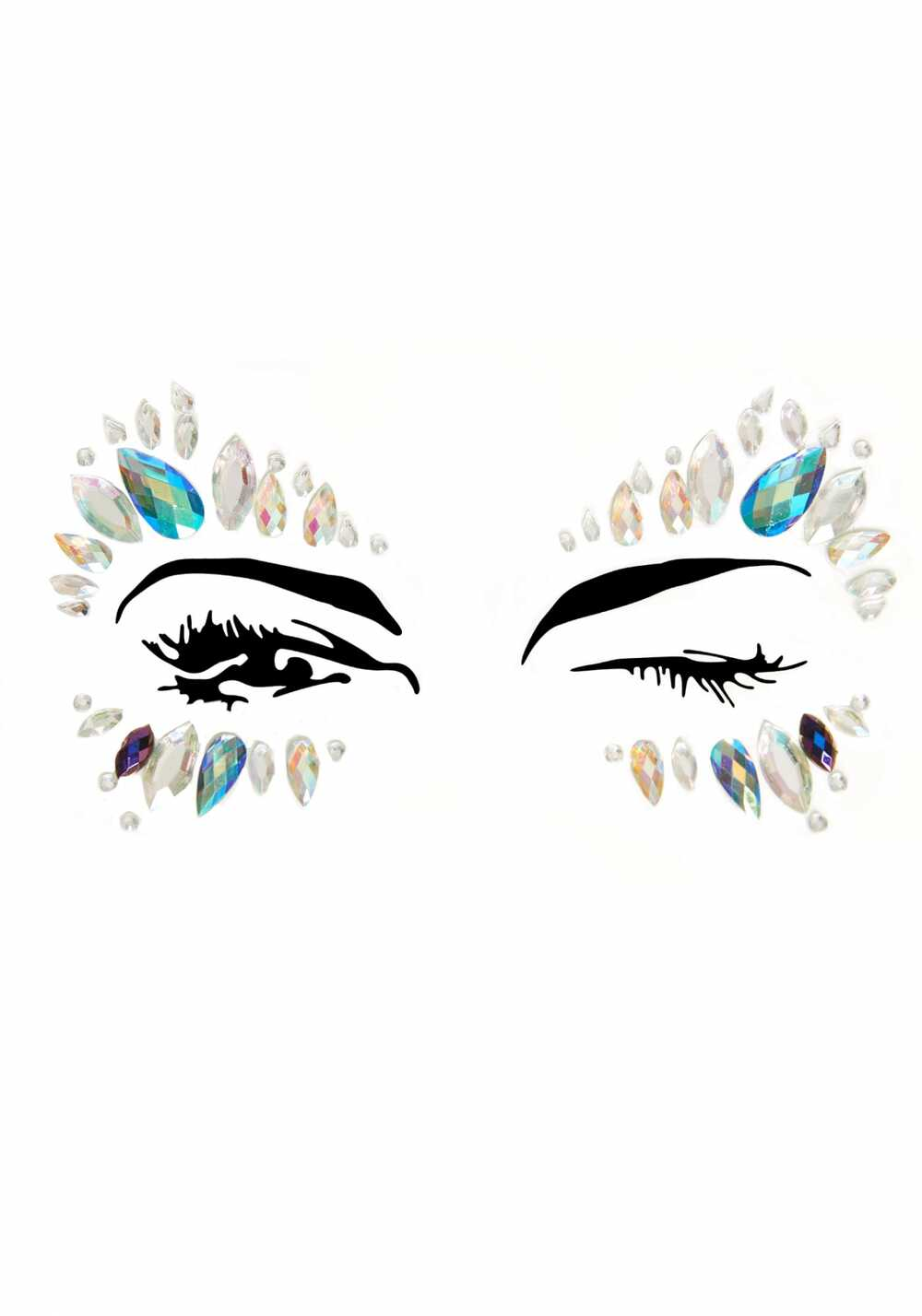 Afbeelding1 Artikel: Face jewels met zilver en blauw Variant: 1961 Parent: 916 Datum: 24/08/2019 16:23:29