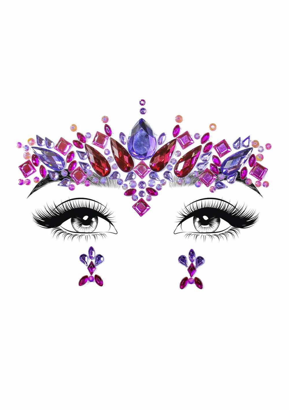 Afbeelding1 Artikel: Face jewels met fuchsia en paars Variant: 1962 Parent: 917 Datum: 24/08/2019 17:21:37
