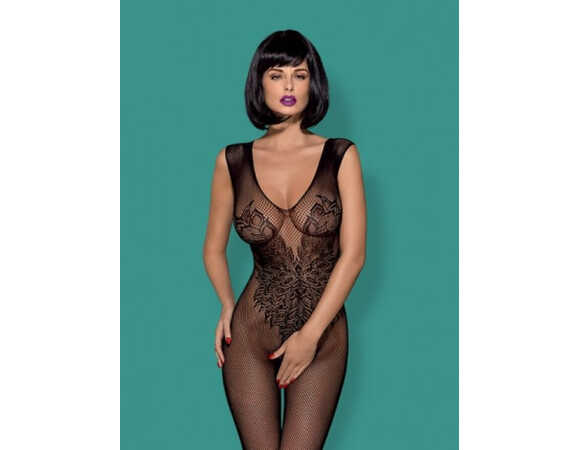 Bodystocking net/bloem