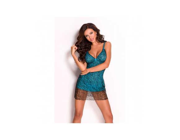 Blauw kleedje met speelse draadjes
