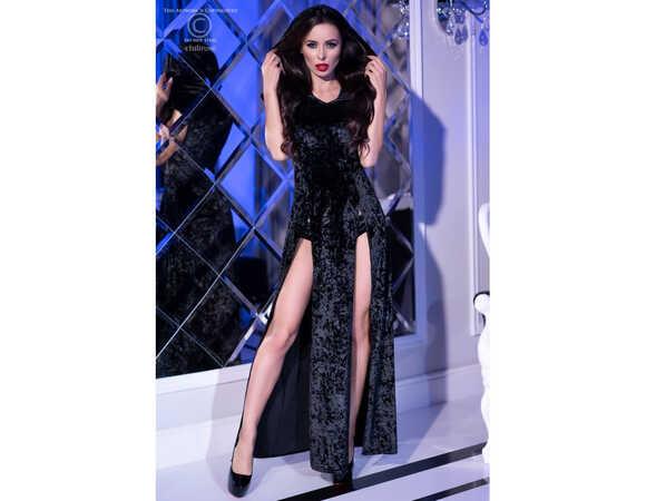 Afbeelding3 Artikel: Lang, zwart velours kleed met kap Variant: 1084 Parent:  Datum: 10/03/2020 23:26:24