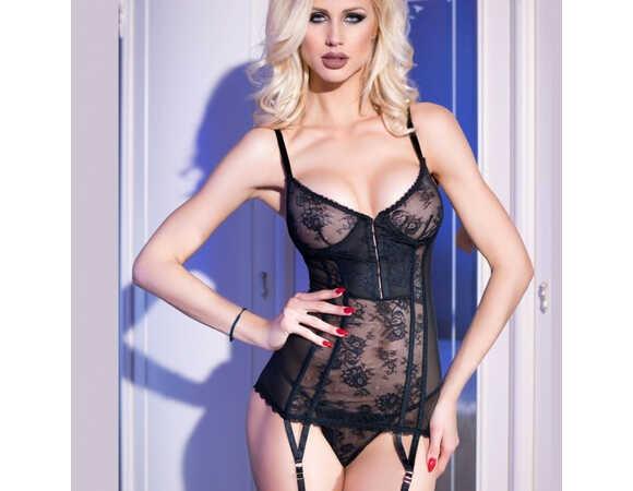 Body corset met jarretelles