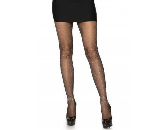 Panty zwart met strass