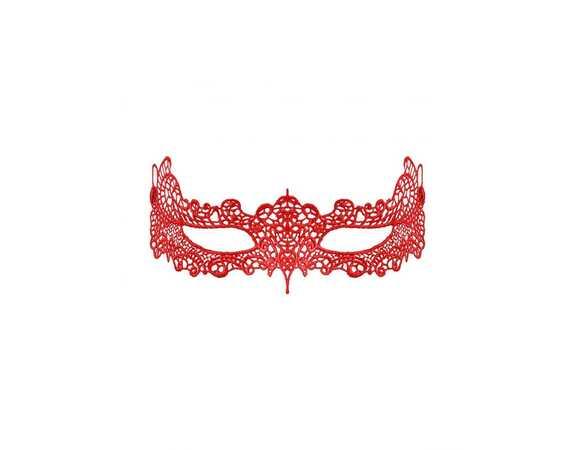 Kanten masker rood